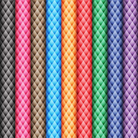 color palette: Colored rhombus. Mountains. Seamless pattern. Color palette