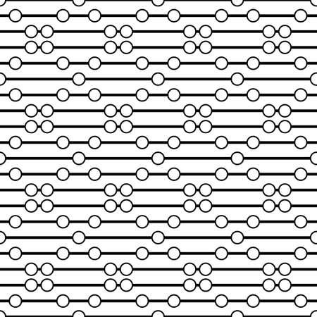bead: Circles on the thread. Simple bead. Seamless pattern