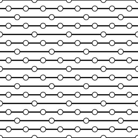 dashes: Circles on the thread. Simple bead. Seamless pattern