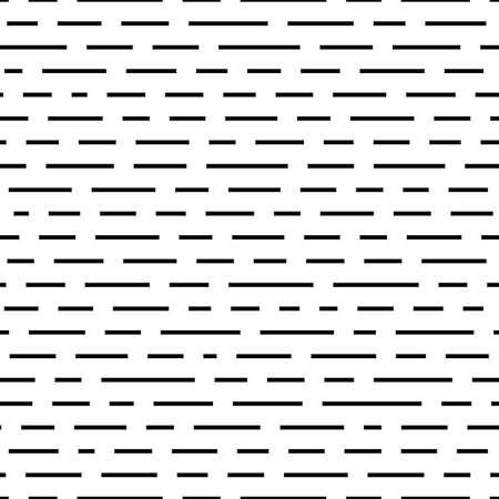 dashed: Black dashed lines. Seamless pattern Illustration