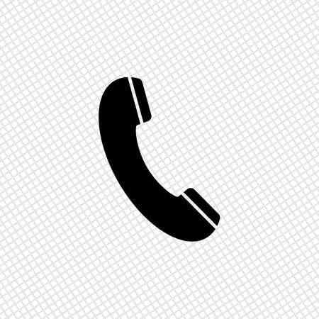 telephone: Telephone receiver icon Illustration