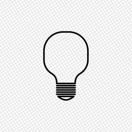 lamp light: Light lamp icon