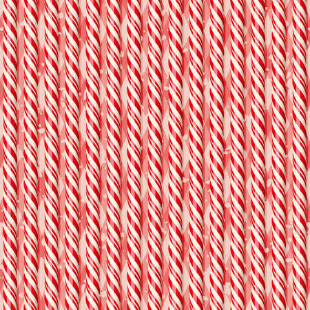 tablecloth: Realistic red candy canes on tablecloth. Seamless pattern