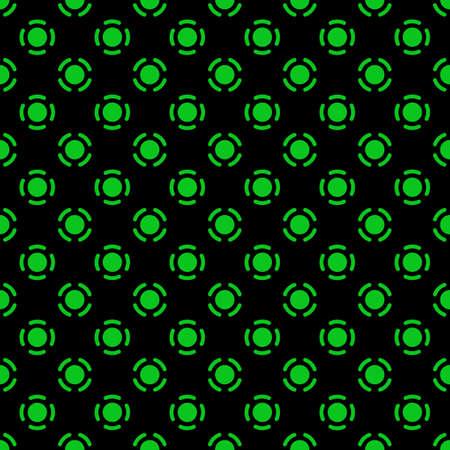 circles pattern: Green tech circles. Seamless pattern Illustration