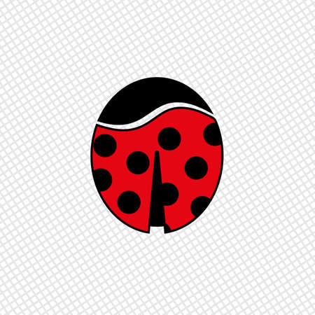 hairpin: Ladybug color icon. Idea for hairpin or magnet