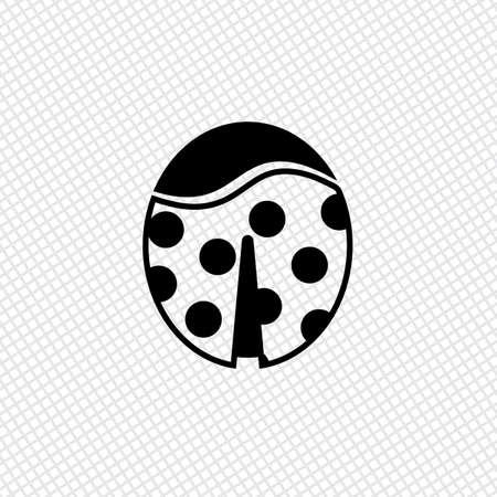 ladybug: Ladybug icon Illustration