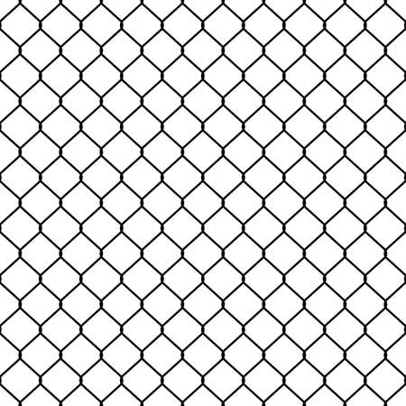 Structure of the mesh fence. Seamless pattern. Vettoriali