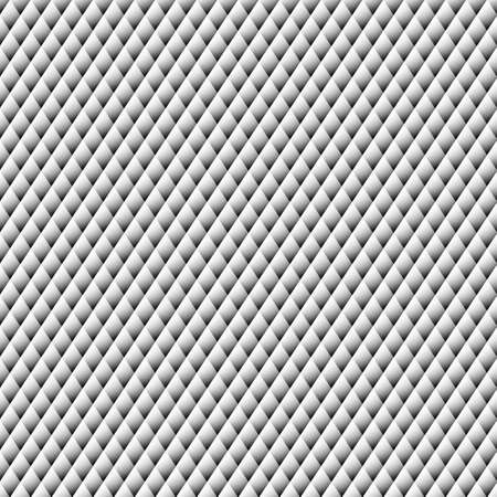 uncolored: Uncolored rhombus. Silver mountains. Seamless pattern