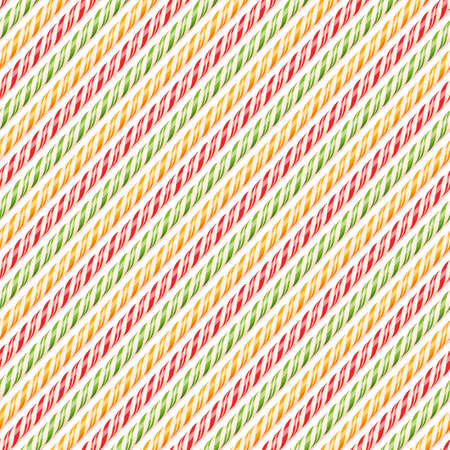 candy canes: Realistic colored candy canes. Seamless pattern Illustration