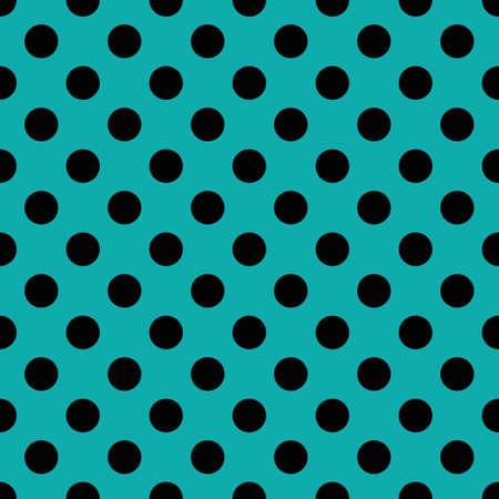 blue circles: Black circles on blue background. Seamless pattern