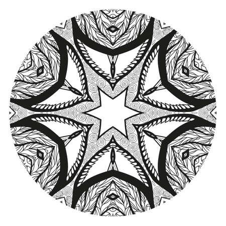 Mandala. Elemento Decorativo étnico Ornamento Redondo Amuleto étnico ...