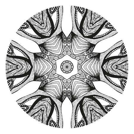 Mandala. Elemento Decorativo étnico. Ornamento Redondo. Amuleto ...
