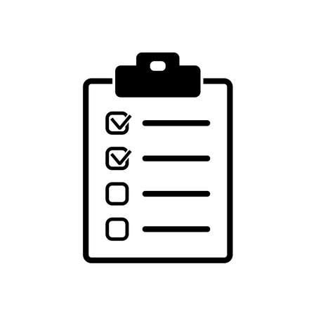 Icône de la liste de contrôle Banque d'images - 62188009
