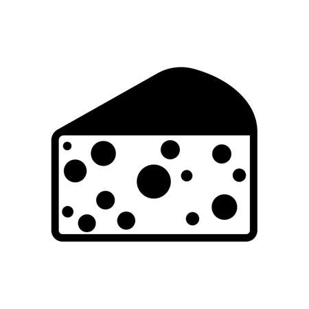 piece: piece of cheese icon Illustration