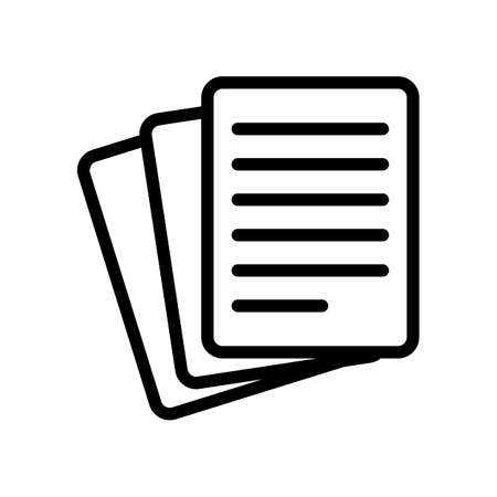 Stack Of Paper icon Stock Illustratie