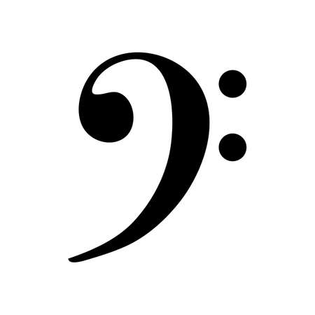bass clef: Bass Clef icon