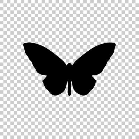 butterfly icon. Black icon on transparent background.