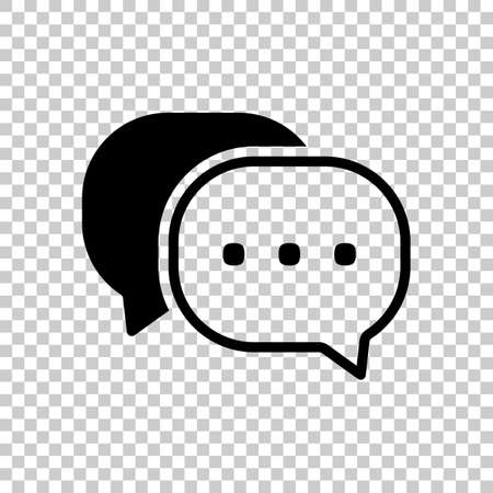 chat icon. Black icon on transparent background. 向量圖像