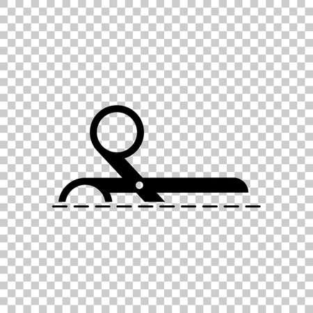 scissors icon. Black icon on transparent background.