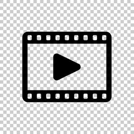 video icon. Black icon on transparent background.