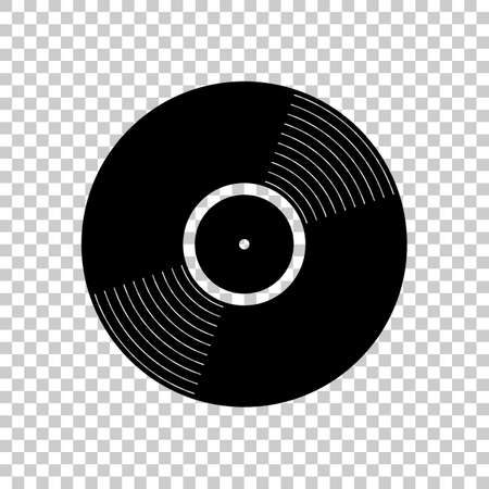 vinyl icon. Black icon on transparent background.
