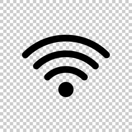 wi-fi icon. Black icon on transparent background.