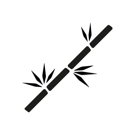 bamboo branch icon Illustration