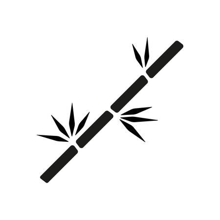 bamboo branch icon Vectores