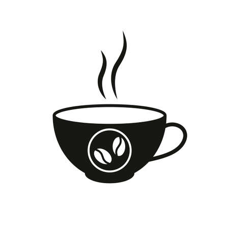 A cup of hot coffee icon Иллюстрация