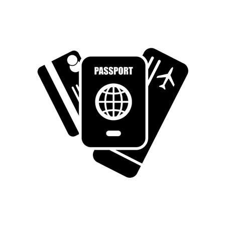 Passport ticket and credit card air travel concept