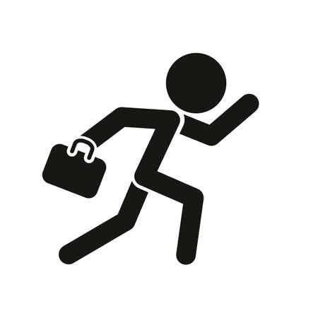 Running man with briefcase Illustration