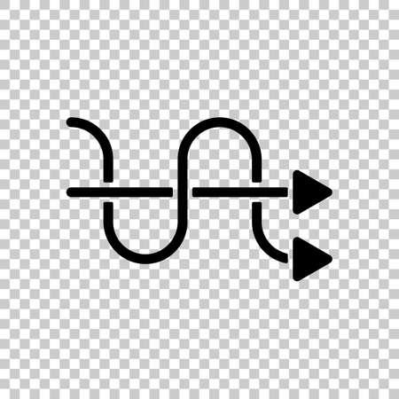 crossed arrows. simple silhouette. On transparent background. Ilustração