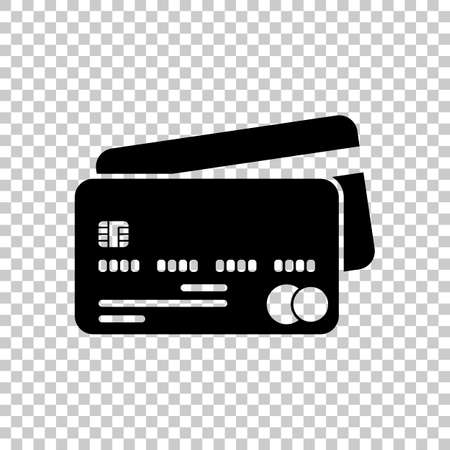 credit card  icon  On transparent background.