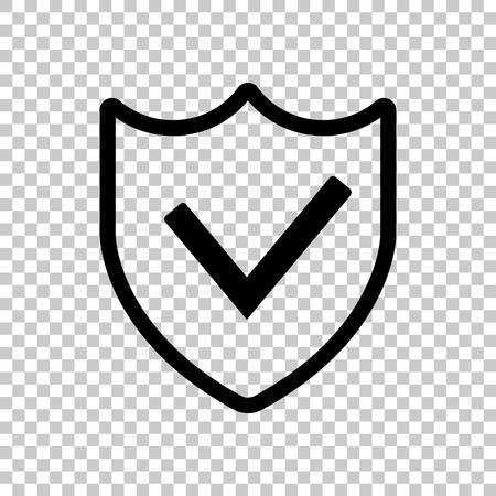 protection success. simple icon. On transparent background. Çizim