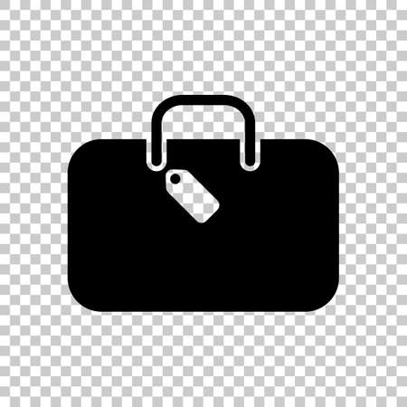traveling bag, luggage, case  On transparent background. Vectores