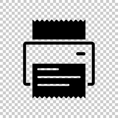 printer, receipt, simple icon. On transparent background.