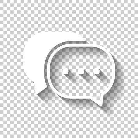 A chat icon White icon with shadow on transparent background