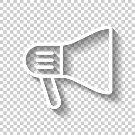 mouthpiece icon. White icon with shadow on transparent background