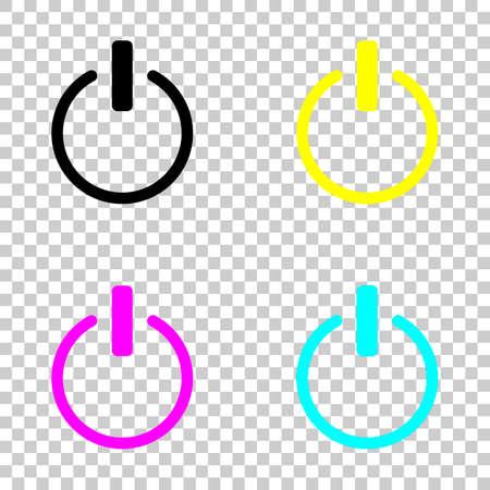 Power icon set Vectores