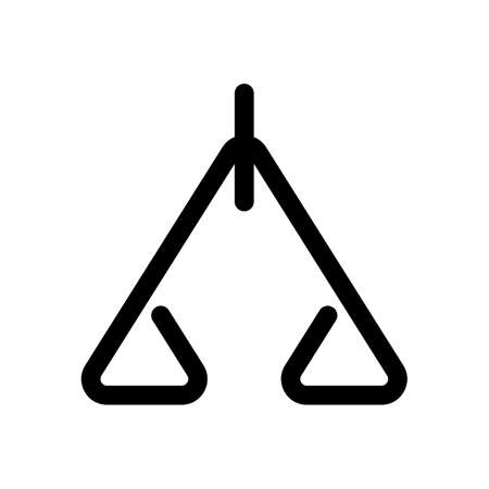 Abstract icon or logo of scale Illustration