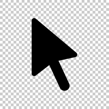 computer mouse arrow icon. On transparent background.