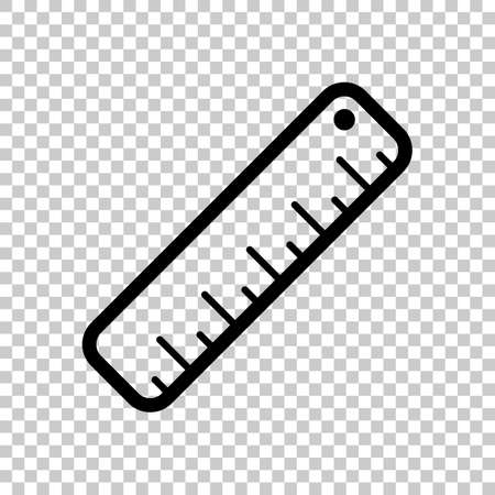 simple ruler icon. On transparent background.