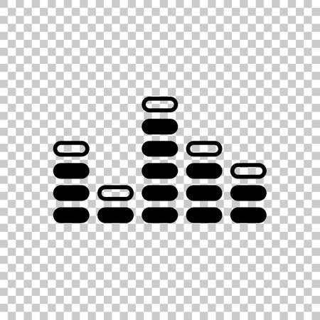 Digital equalizer. Simple icon. On transparent background. Illustration