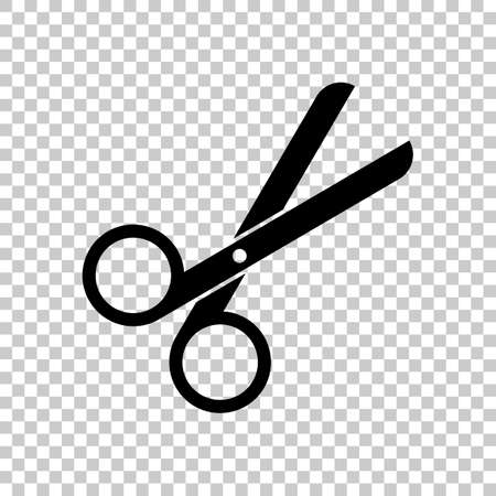 Scissors icon. Tool of barber. On transparent background. Vectores