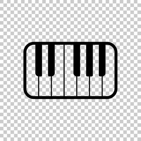 Piano keyboard icon. On transparent background.