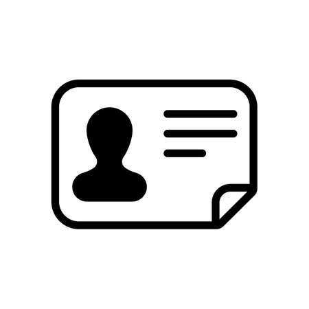 Identification card icon. ID profile