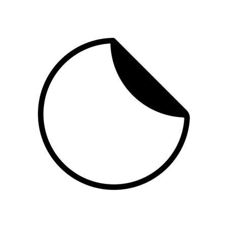 etiqueta redonda con borde plegado