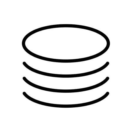 Database icon. Simple linear symbol, thin outline