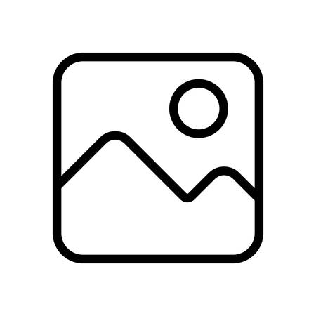 Simple picture icon. Linear symbol, thin outline