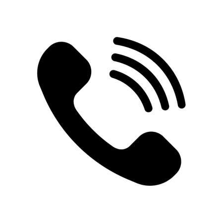 Ringing phone icon. Retro symbol